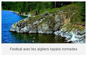 randonnée au festival festival avec les aigliers kazaks